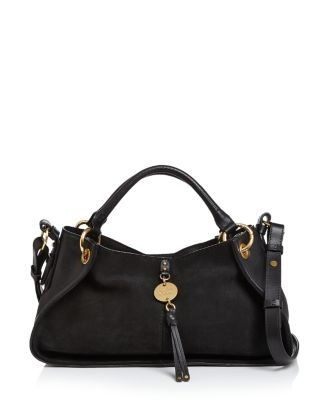 Luce Leather & Suede Satchel by See By Chloé