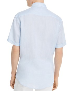 Armani - Short-Sleeve Flax Modern Fit Sport Shirt
