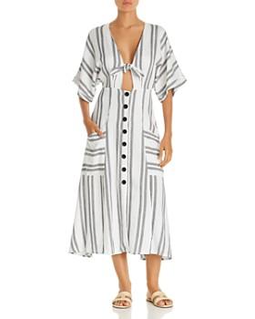 Dolce Vita - Scorpion Striped Dress Swim Cover-Up