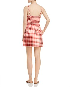 AQUA - Button Detail Plaid Dress - 100% Exclusive