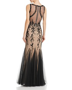 AQUA - Embroidered Lace Gown - 100% Exclusive