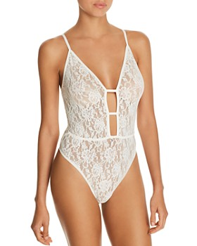 Hanky Panky - Signature Lace Plunge Bodysuit - 100% Exclusive
