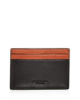 COACH - Color-Block Leather Money Clip Card Case