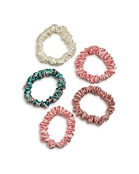 slip - Silk Midi Scrunchies, Set of 5