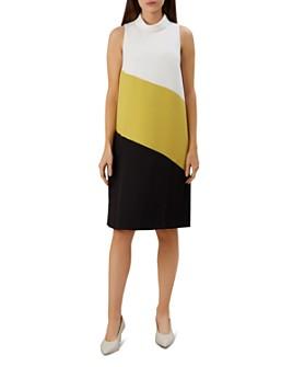 HOBBS LONDON - Cecile Sleeveless Color-Block Shift Dress