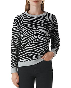 Whistles - Flocked Zebra-Print Sweater
