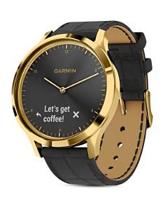Garmin - Vivomove HR Polished Gold Touchscreen Hybrid Smartwatch, 43mm