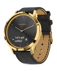 Garmin vivomove HR Sport Hybrid Black Smartwatch, 43mm   Bloomingdale's