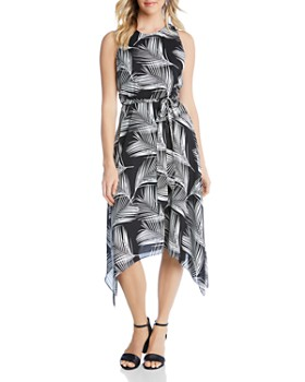Karen Kane - Sleeveless Palm-Print Dress