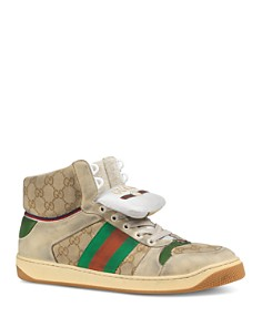 Gucci - Men's Screener GG High-Top Lace-Up Sneakers