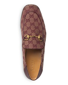Gucci - Men's Mister GG Supreme Canvas Apron-Toe Loafers
