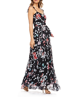 Dress The Population Dresses DRESS THE POPULATION HOLLIE FLORAL GOWN
