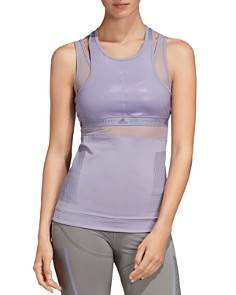 adidas by Stella McCartney - Run Layered-Look Tank