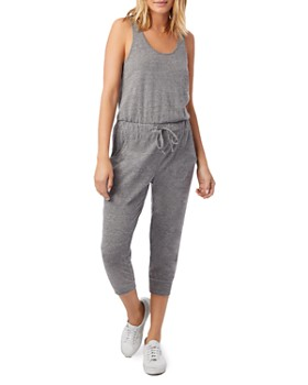 ALTERNATIVE - Sleeveless Cropped Jogger Jumpsuit