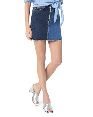 Joe's Jeans Skirts THE BELLA TWO-TONE DENIM SKIRT IN SALLIE