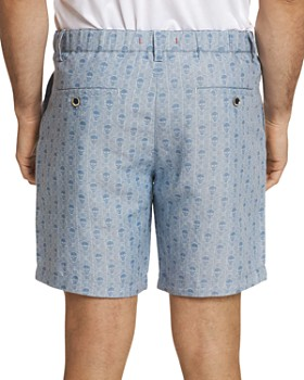 Robert Graham - Skull-Print Drawstring Regular Fit Shorts