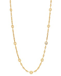 Roberto Coin - 18K Yellow & White Gold Barocco Station Necklace, 32""