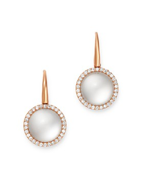 Roberto Coin - 18K Rose Gold Cocktail Satin Mother-of-Pearl Doublet & Diamond Drop Earrings