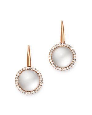 Roberto Coin 18K Rose Gold Cocktail Satin Mother-of-Pearl Doublet & Diamond Drop Earrings