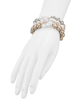 AQUA - Natural Freshwater Pearl Bracelets, Set of 3 - 100% Exclusive