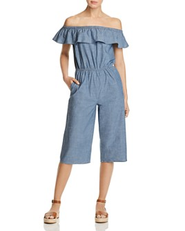 Vero Moda - Emilia Organic Cotton Cropped Chambray Jumpsuit