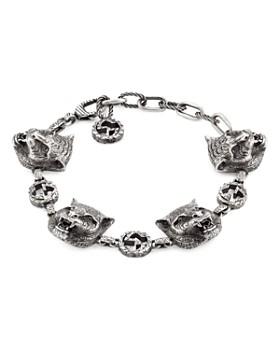 b2172c2c7ffcb Gucci - Sterling Silver Gucci Garden Feline Head Link Bracelet