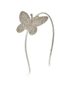 GiGi - Girls' Crystal-Butterfly Glitter Headband - 100% Exclusive