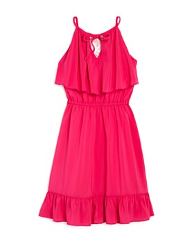 Laundry by Shelli Segal - Girls' Ruffled Modified-Halter Dress - Big Kid