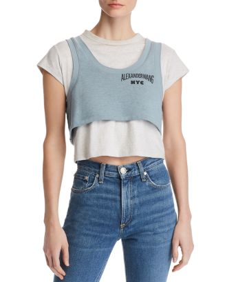 Lightweight Terry Layered Look Tee by Alexanderwang.T