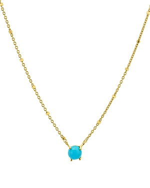 Argento Vivo Stone Pendant Necklace in 14K Gold-Plated Sterling Silver, 16