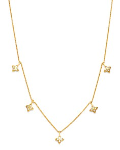 Bloomingdale's - Diamond Clover Droplet Necklace in 14K Yellow Gold, 0.25 ct. t.w. - 100% Exclusive