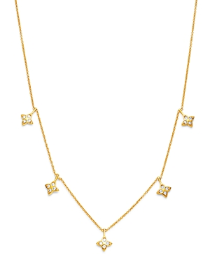 Bloomingdale's Diamond Clover Droplet Necklace in 14K Yellow Gold, 0.25 ct. t.w. - 100% Exclusive