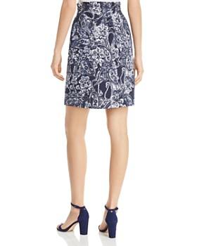 DKNY - Paisley-Print Pencil Skirt