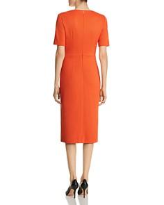 BOSS - Daissa Textured V-Neck Sheath Dress