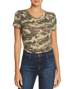 34810058 AQUA - Short-Sleeve Camouflage-Print Bodysuit - 100% Exclusive ...