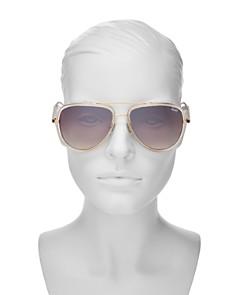 Quay - Women's QUAY x JLO All In Mirrored Aviator Sunglasses, 56mm