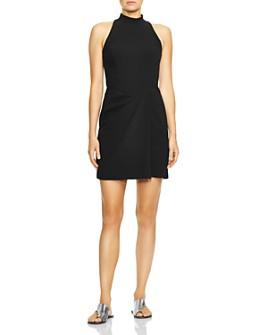 HALSTON - Mock-Neck Dress