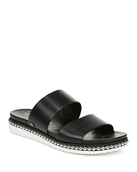 Sam Edelman - Women's Asha Studded Leather Slide Sandals