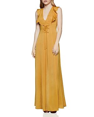 Bcbgeneration Dresses LACE-UP SATIN MAXI DRESS