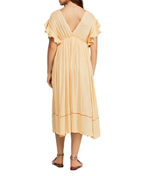Free People - Will Wait For You Midi Peasant Dress