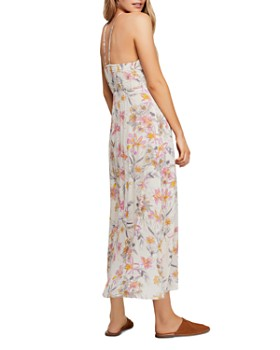 Free People - One Step Ahead Floral-Print Midi Dress