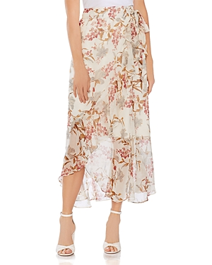 Vince Camuto Skirts WILDFLOWER FAUX-WRAP MAXI SKIRT
