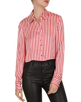 The Kooples - Voile Rouge Striped Shirt