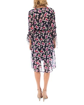 B Collection by Bobeau - Sadie Floral Tie-Sleeve Dress