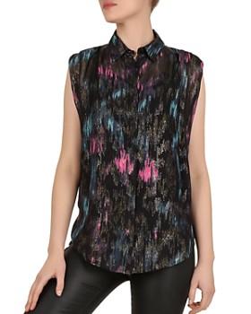 The Kooples - Sleeveless Printed Shirt