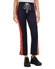 The Kooples - Cropped Side-Snap Band Pants