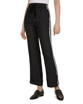 The Kooples - Graphic Floral-Print Wide-Leg Pants