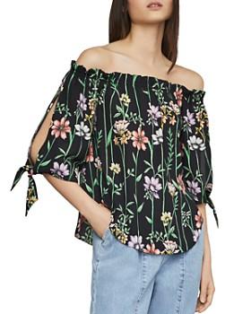 023ee2917464 BCBGMAXAZRIA - Botanical Floral Off-the-Shoulder Top ...
