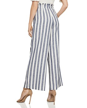 207ce7765464 ... BCBGMAXAZRIA - Paperbag-Waist Wide-Leg Striped Pants