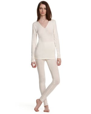 Hanro Woolen Silk Basic Long Sleeve Shirt